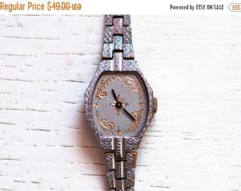 """Elegant watch, engraved  watch, Soviet watch, Womens watch, Russian watch ,minimalist watch, minimal watch, classic watch """"LUCH"""""""
