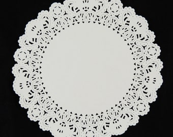 "8"" and 10"" WHITE Normandy PAPER Lace DOILIES 