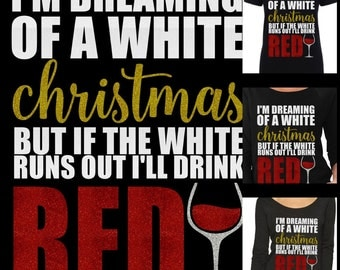 White christmas etsy for Red wine out of white shirt