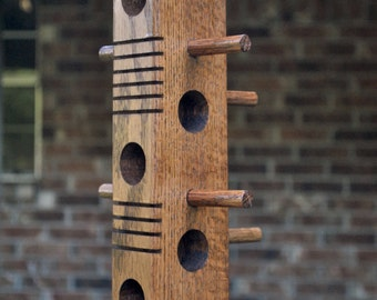 Suet Bird Feeder made from Red Oak (a)
