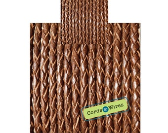 CW25101 - 0,40 meter x 2,50mm Braided Leather Cord