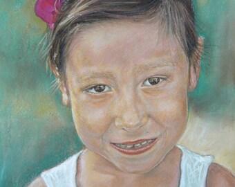 Custom portrait in pastel