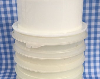 Vintage Tupperware Hamburg Patty Keeper 882, 884 and 215