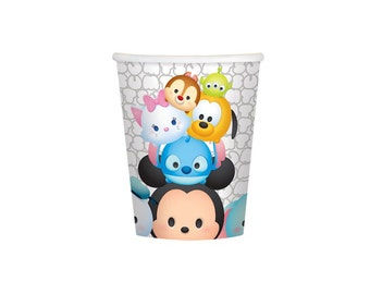 Disney Tsum Tsum Paper Cups - 9oz, Tableware, Party Supplies