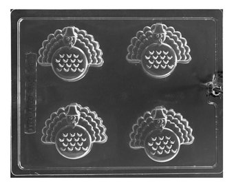Turkey Oreo Sandwich Cookie Chocolate Mold - Thanksgiving - Baking Candy Making Party Supplies