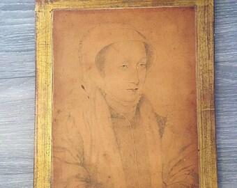Florentine Artwork, Vintage Alinari Wall Decor, Renaissance Style, Italian Wall Decor, Florentine Portrait