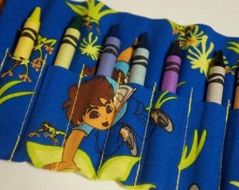 DIEGO CRAYON Roll-Up 10 Count Crayon Caddy Crayola Crayons INCLUDED