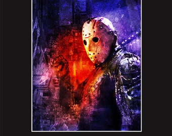 Jason Voorhees 8 -  11X14 Matted Print - Signed by Artist Joel Robinson