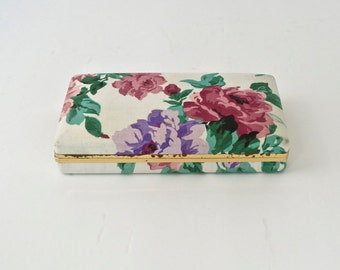 RESERVED  for RENEE....Jewelry Box Floral Fabric Jewelry Case Retro Showcase
