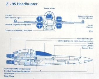 Star Wars Z-95 Headhunter Blueprint