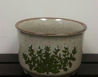 Takahashi Stoneware Botanical Planter Pot Large