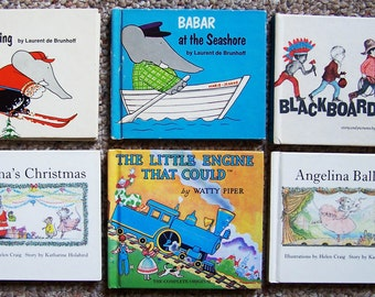 Collection  14 Small Childrens Books - Storytime/Bedtime - Babar, Angelina, Very Hungry Caterpillar, Jillian Jiggs, Little Engine That Could