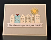 New Home Card, Housewarming Card, New Home Congratulations Card, Moving Card, Realtor Card