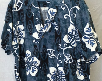Vintage RJC Blue Hawaiian Shirt