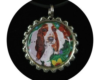 Dog Mom Gift, dog jewelry, animal charm, animal jewelry, dog charm,basset hound,dog necklace,pet memorial jewelry,basset memorial, Item #BN1