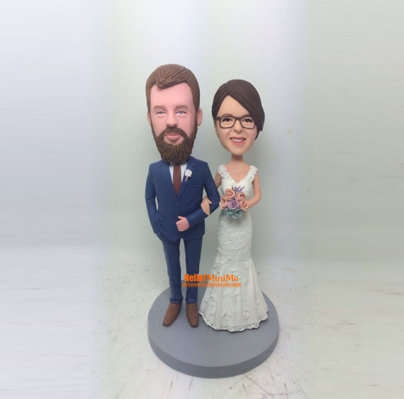 bobblehead wedding cake toppers personalized wedding bobblehead custom cake topper wedding topper custom 12068