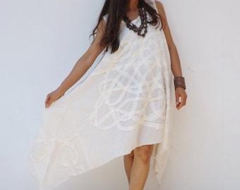 Dress   ...Summer Dress  ....Color Natural Cotton ( off white)