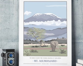 Mt. Kilimanjaro Giclee Print - Customisable