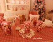 Christmas Candy Jar, Miniature Food, Dollhouse Miniature Handmade, 1:12  Scale Dolls House