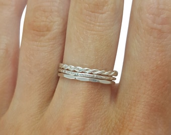 Sterling Silver Thin Stacking Rings