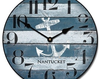 Nantucket Blue Wall Clock