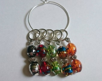 Splatter Bead Stitch Markers for Knitting