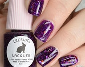 Purple Jelly Nail Polish, Glitter Nail Polish - Planetary Nebula - Jelly's from Outer Space Collection
