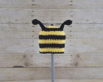 Bumble Bee Hat - Bee Hat - Bumble Bee Hat - Bug Hat - Animal Hat - Baby Photo Prop - Newborn Photo Prop - Kids Bee Hat - Crochet Hats