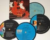 The Ventures Coasters vinyl record coaster set