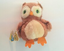 Vintage Plush Owl // Dakin Bean Bag Owl