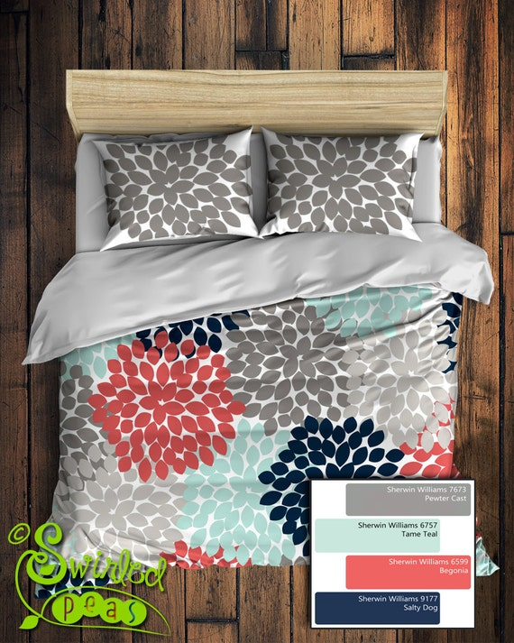 Custom Floral Bedding In Comforter Or Duvet Style Features