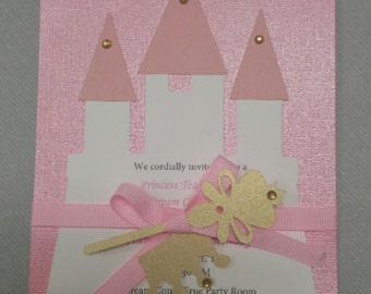 Handmade Royal Princess Birthday Invitations