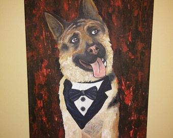 Custom Pet Portrait - Acrylic Painting