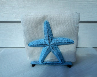 Cast iron starfish napkin holder / beach decor / nautical decor