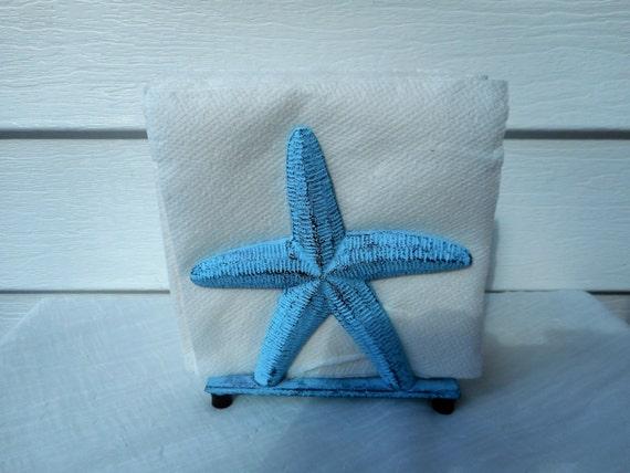 Cast iron starfish napkin holder beach decor nautical - Coastal napkin holder ...
