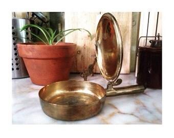 Vintage Silent Butler -Solid Brass- Made In India Ashtray/Candleholder/Incense Burner