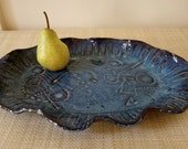 Large Serving Platter - Rustic Hand Built Pottery