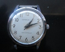 Mens Caravelle Automatic Watch Dial Round 17mm 1 1/2 Wide Working - #150
