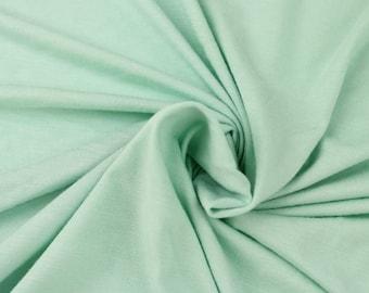 Light Mint Green Heavyweight Rayon Jersey Spandex Knit Fabric by the Yard - 1 Yard Style 406