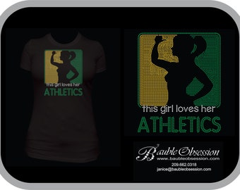 This Girl Loves Her Athletics - Customize with your team colors!