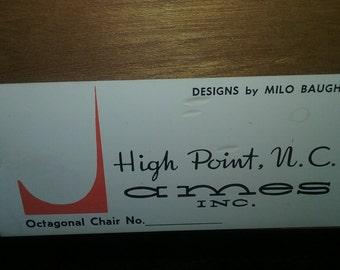 Milo Baughman Lounge Chair, Rocking Chair for Thayer Coggin James Furniture Company