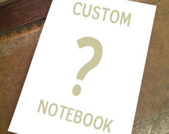 CUSTOM NOTEBOOK .. blank notebook..fan made cosplay prop