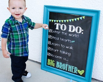 Pregnancy Announcement Big Brother Big Sister To Do List