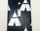 Little Teepees Light Switch Plate Cover / Outlet Cover / Bedroom / Home Decor / Baby Shower Gift / Nursery Decor / Kid's Room / TeePee