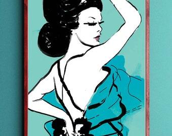 Tiffany, Fashion Illustration print poster