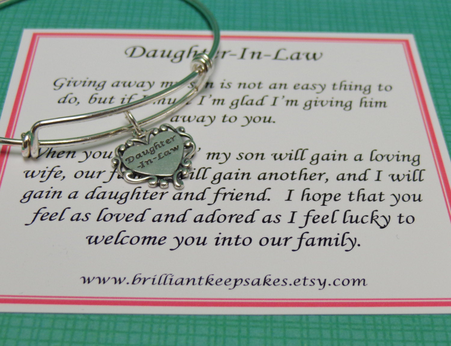 Wedding Gift For Future Daughter In Law : Future Daughter In Law Wedding Gift Sterling by BrilliantKeepsakes