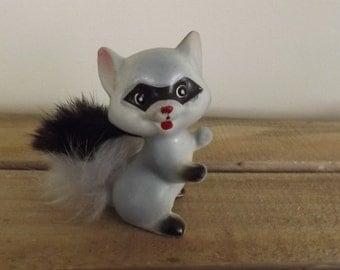 Vintage Enesco Raccoon figurine