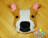 ANGIE  honey red fawn American Staffordshire Terrier plush toy OOAK/ 4PawsFashion