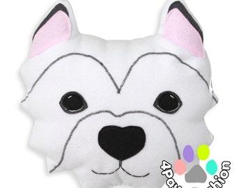SNOWFLAKE stuffed plush Westhighland White Terrier toy OOAK / 4PawsFashion