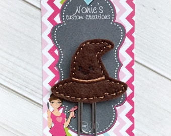 Sorting Hat Paper Clip - Wizard Hat Paper Clip - Planner Accessories - Sorting Hat Feltie- Planner Paperclips - Planner Accessory